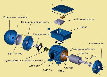 Электродвигатель с короткозамкнутым ротором схема фото 125