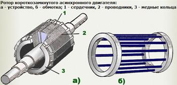 Короткозамкнутый ротор асинхронного двигателя