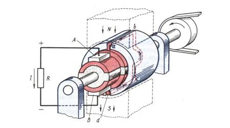 принципиальная схепа постоянный двигатель