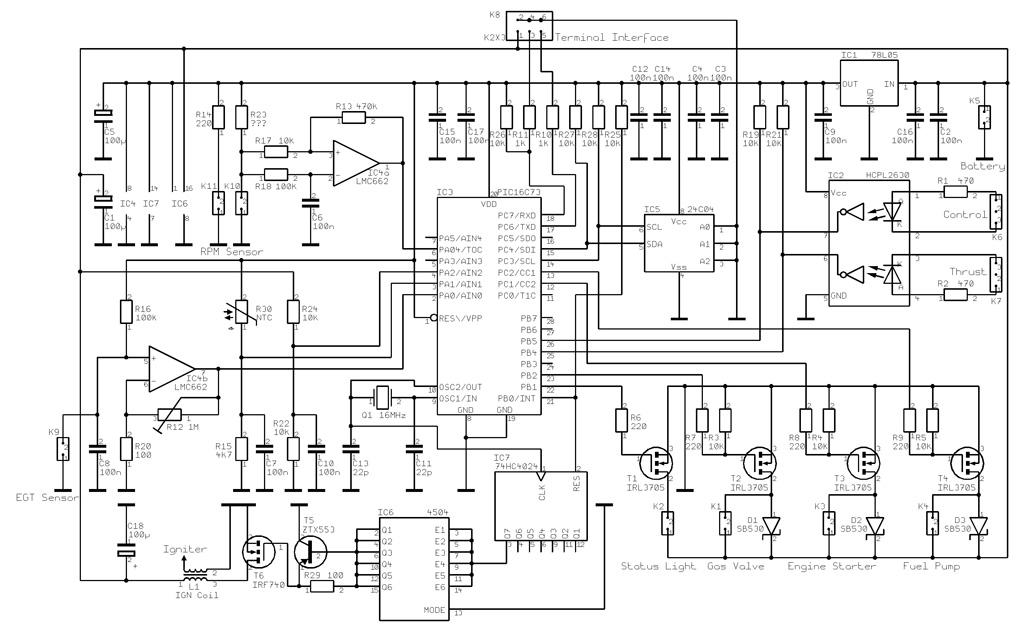 схема управлением двигателем турбореактивного двигателя