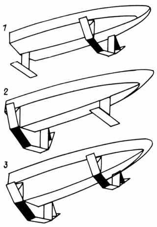 схема расположения подводных крыльев